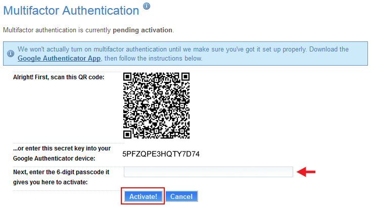 Fix Google authenticator code not working