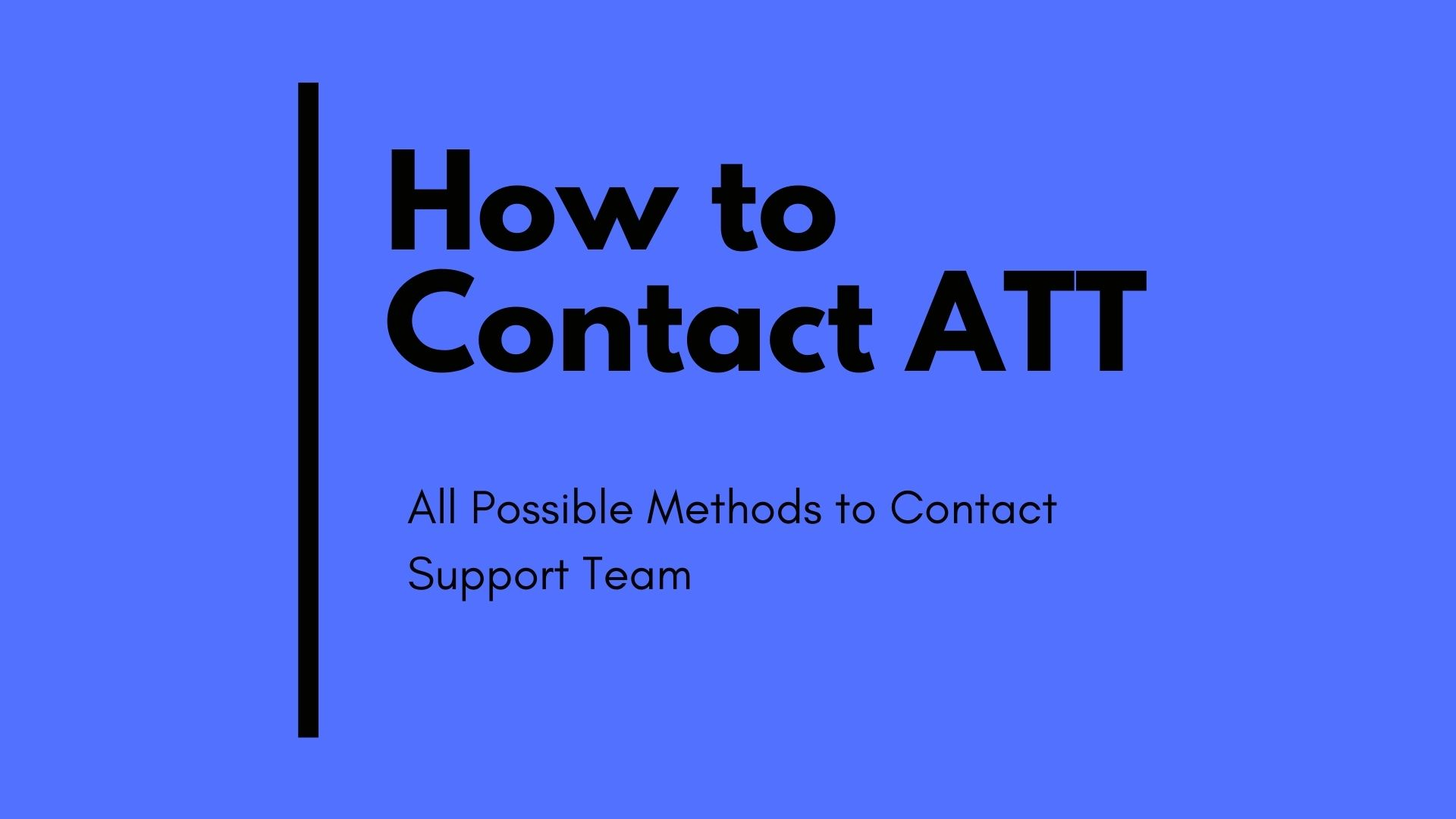 how to contact att support