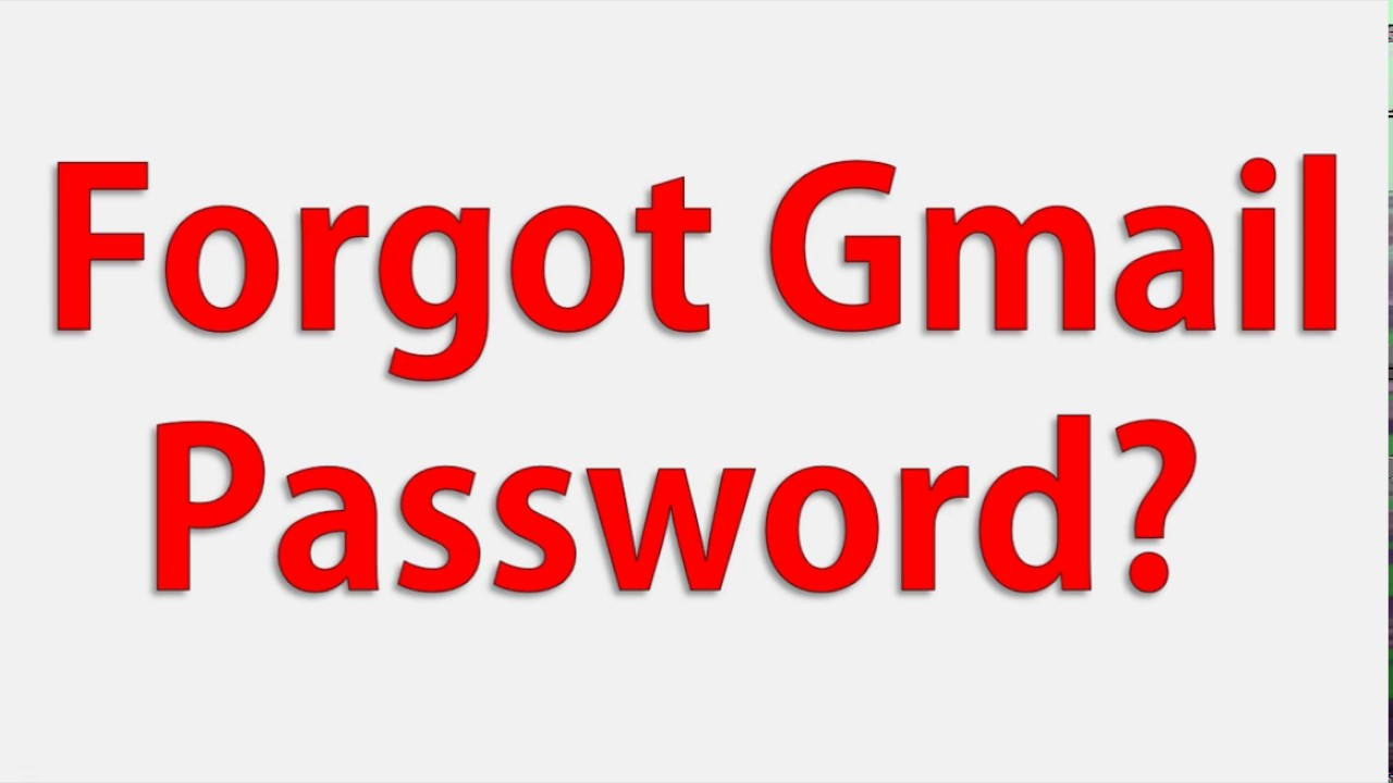 Forgotten Gmail Password