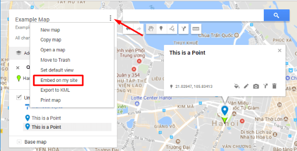 how to add google map location in website