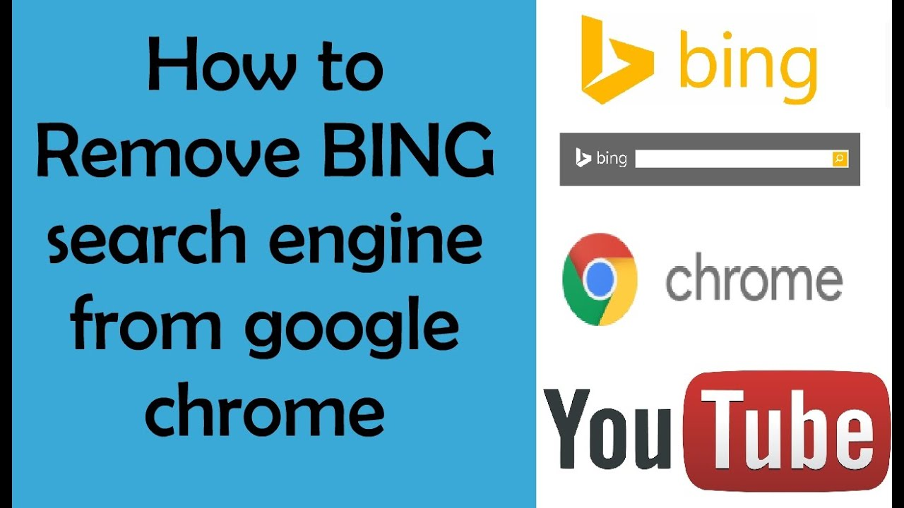 remove bing from google chrome